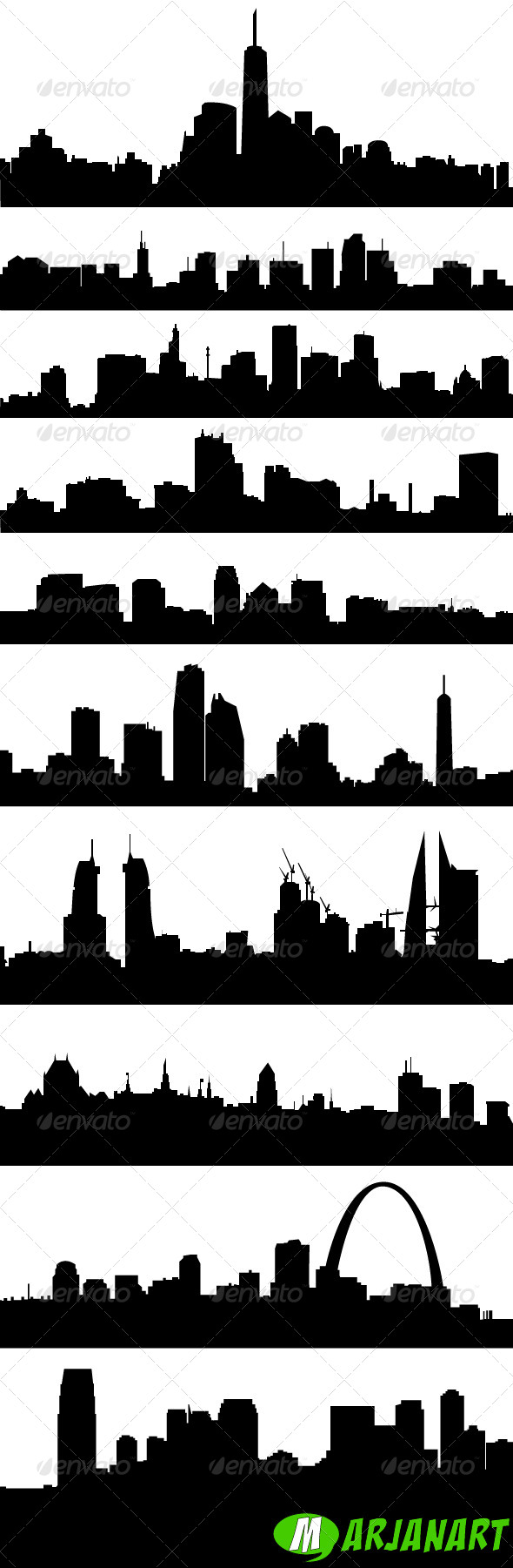 GraphicRiver City Skyline Silhouettes 6028286