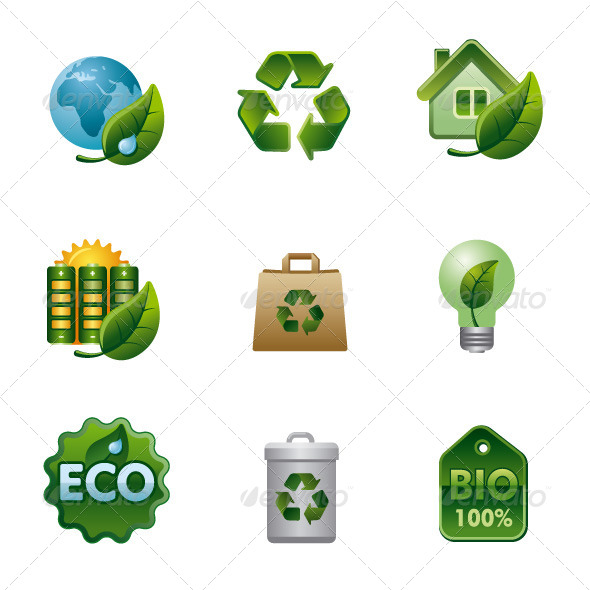 GraphicRiver Ecology Icon Set 6028719