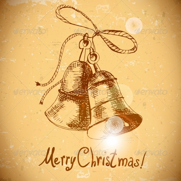 GraphicRiver Christmas Bell Vintage Background 6029305