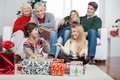 Family With Christmas Presents At Home - PhotoDune Item for Sale