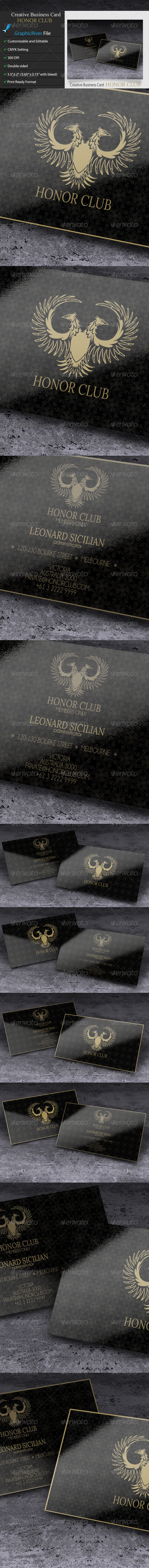 GraphicRiver Creative Business Card Honor Club 6029363