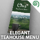 Elegant Tea House Menu - GraphicRiver Item for Sale