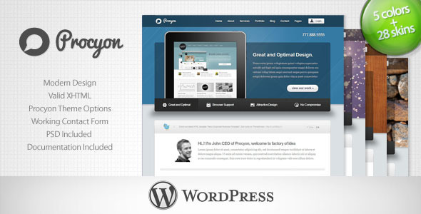 Procyon - Corporate Business Wordpress Theme 6 - Corporate WordPress