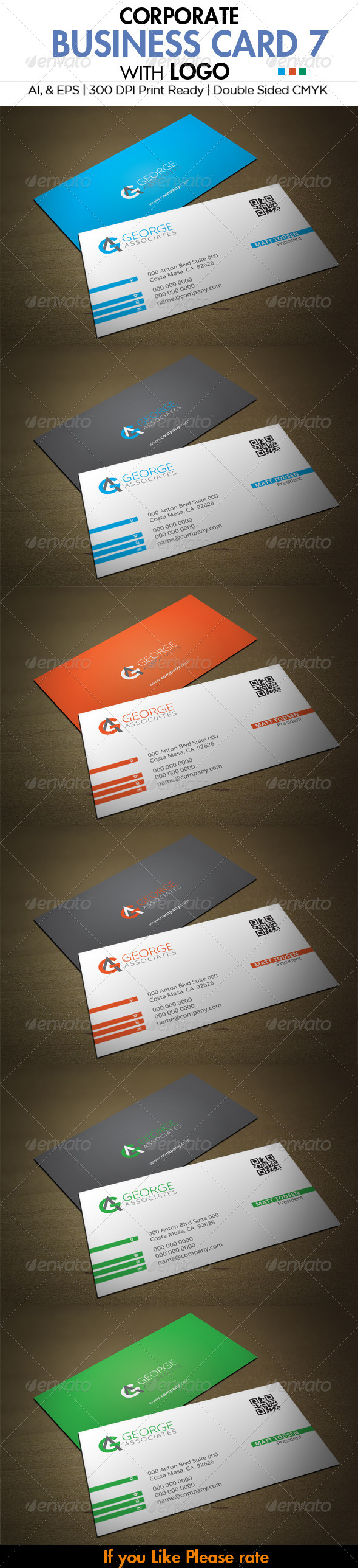 GraphicRiver Corporate Business Card 7 6031161