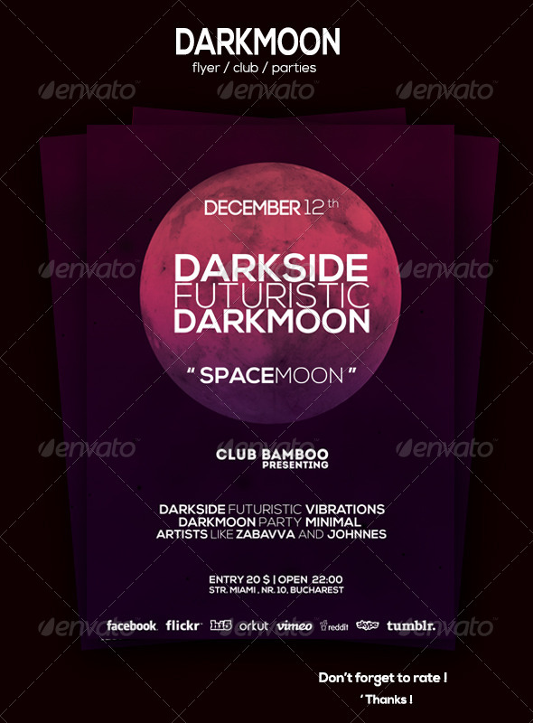 GraphicRiver Darkmoon Flyer 6031564