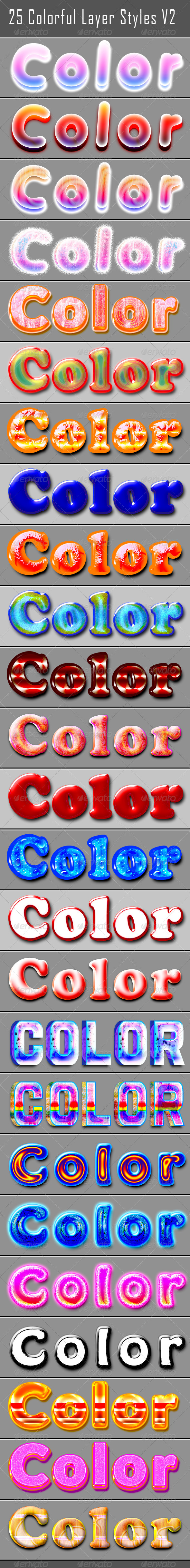 GraphicRiver 25 Colorful Layer Styles 6031703