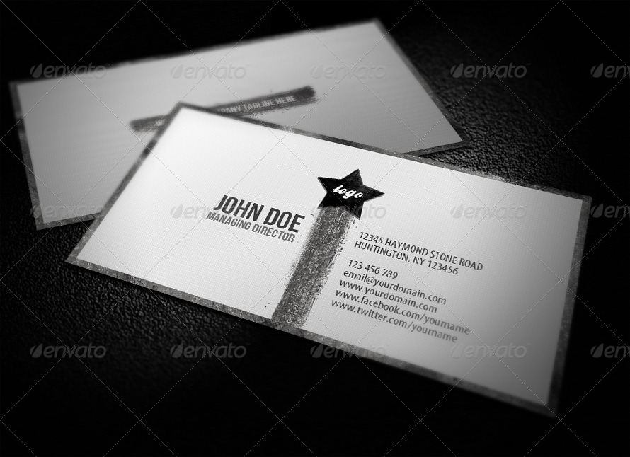 Clean Grunge Business Card