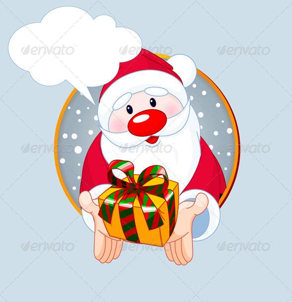GraphicRiver Santa Giving a Gift 6032710