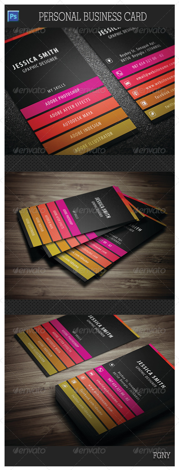 GraphicRiver Personal Business Card 6032758