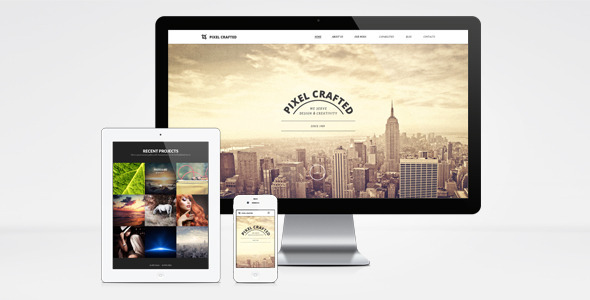 Pixel Crafted WordPress Theme - Creative WordPress