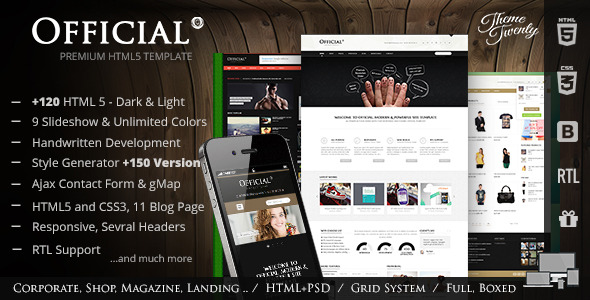 Official - Multipurpose HTML5 Website Template