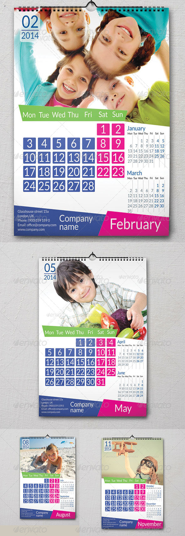 GraphicRiver Wall Calendar 2014 6033658