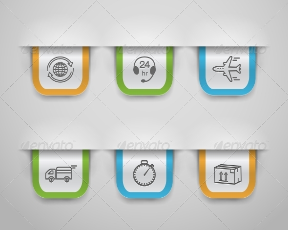 GraphicRiver Logistic Icons 6033700