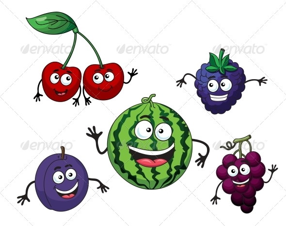 GraphicRiver Cherry Watermelon Grape Bilberry and Plum 6033762