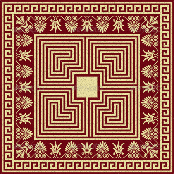 GraphicRiver Vector Vintage Gold Greek Ornament Meander 6034182