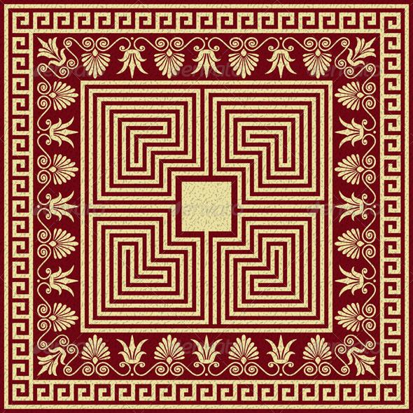 GraphicRiver Vector Vintage Gold Greek Ornament Meander 6034182