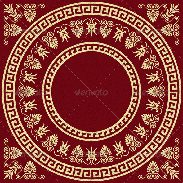 GraphicRiver Vector Vintage Gold Greek Ornament Meander 6034292