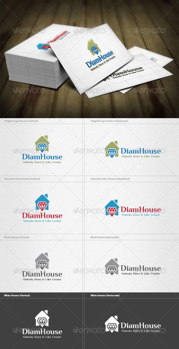 GraphicRiver Diamond House Logo 6034510