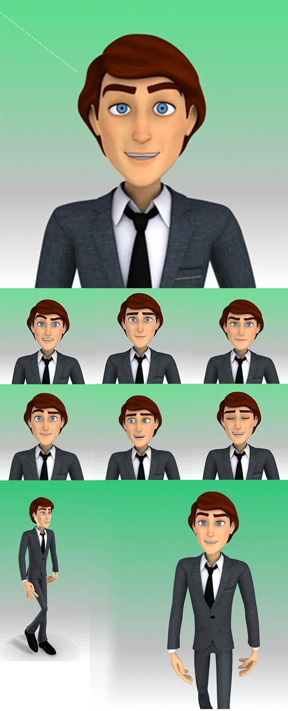 3DOcean Business Man Faces 6034722