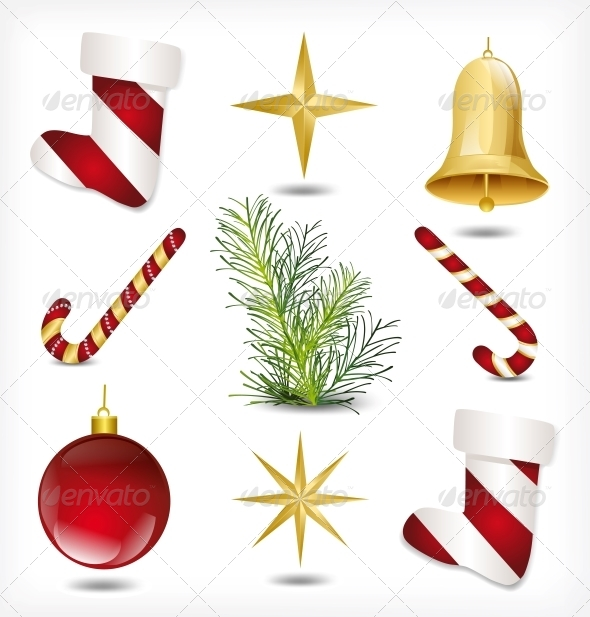 GraphicRiver Set of Christmas Items 6034835