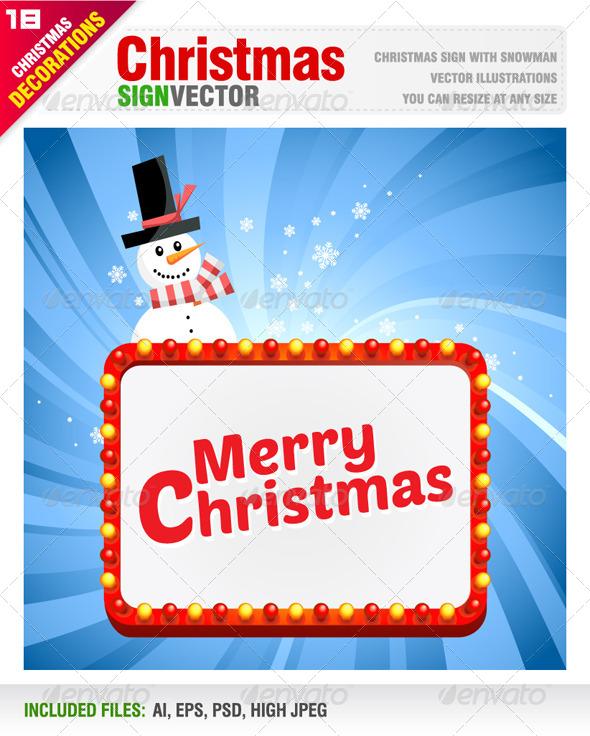 GraphicRiver Christmas Sign 6034836