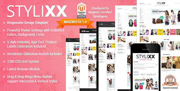 Responsive Magento Theme - Stylixx Asian Fashion - Fashion Magento