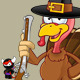 Turkey Mascot - Holding A Gun - GraphicRiver Item for Sale