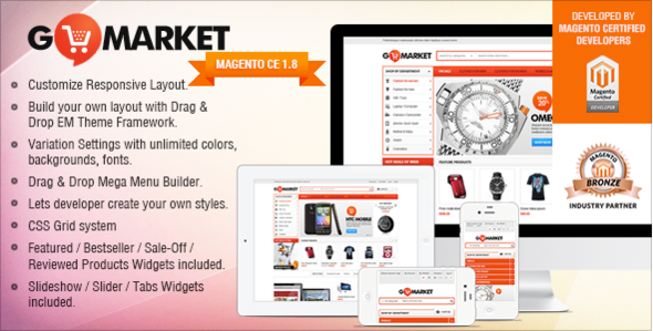 Gala GoMarket - Supermarket vs. Simple Store Theme - Magento eCommerce