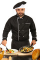 Chef male arrange food on plate - PhotoDune Item for Sale