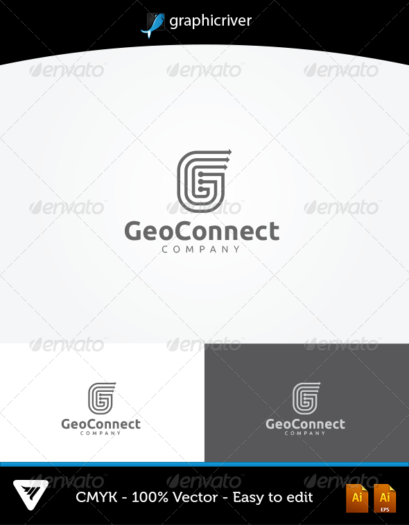 GraphicRiver GeoConnect Logo 6037926