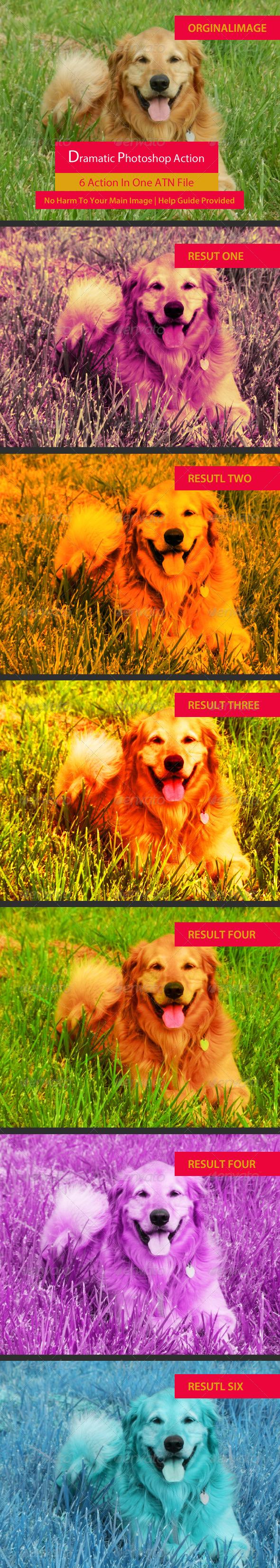 GraphicRiver 6 Photoshop Action Set 6038218