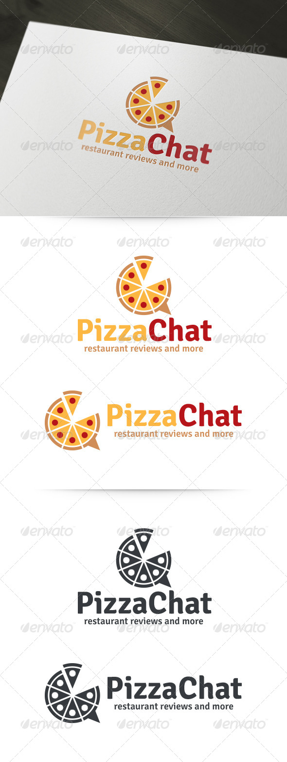 GraphicRiver Pizza Chat Logo 6039531