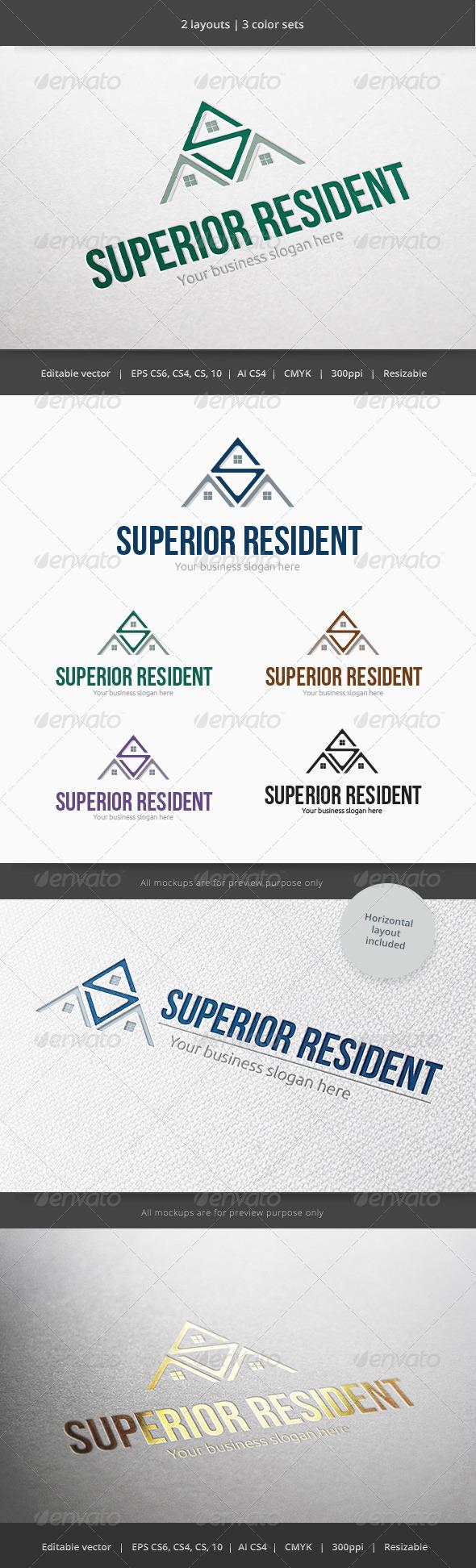 GraphicRiver Superior Resident Home Logo 6040697