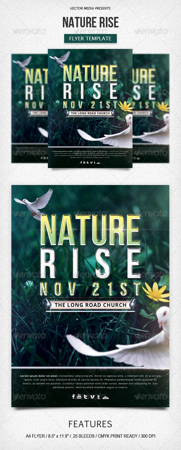GraphicRiver Nature Rise Flyer 6040930