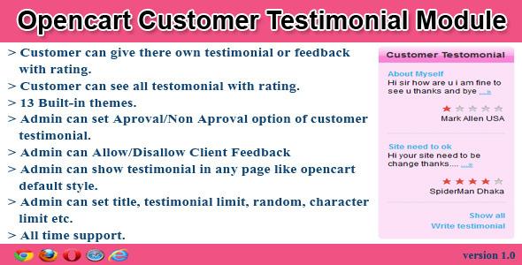 CodeCanyon opencart customer testimonial module 5942252