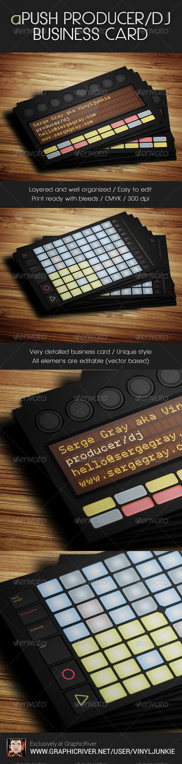 GraphicRiver aPush Producer DJ Business Card 6041414