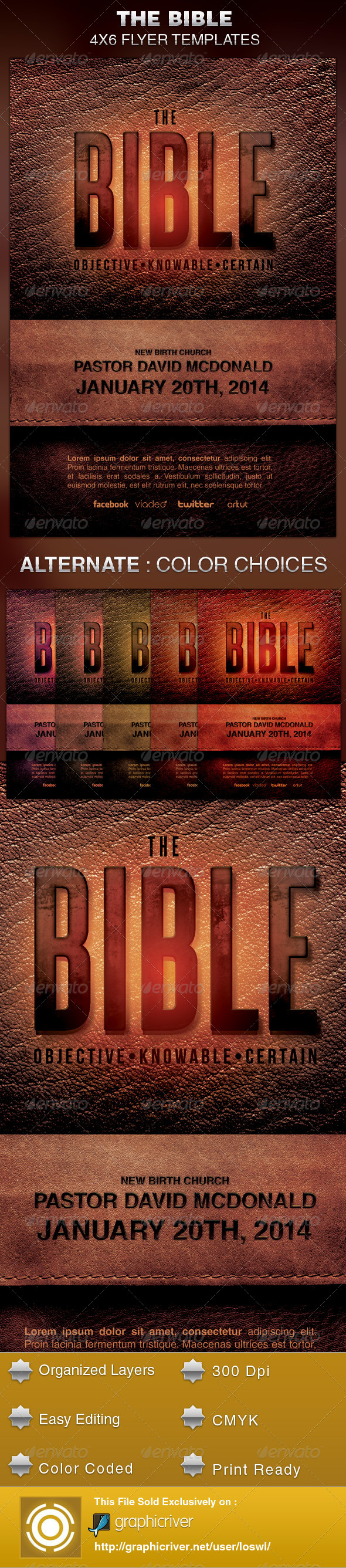 GraphicRiver The Bible Church Flyer Template 6041704