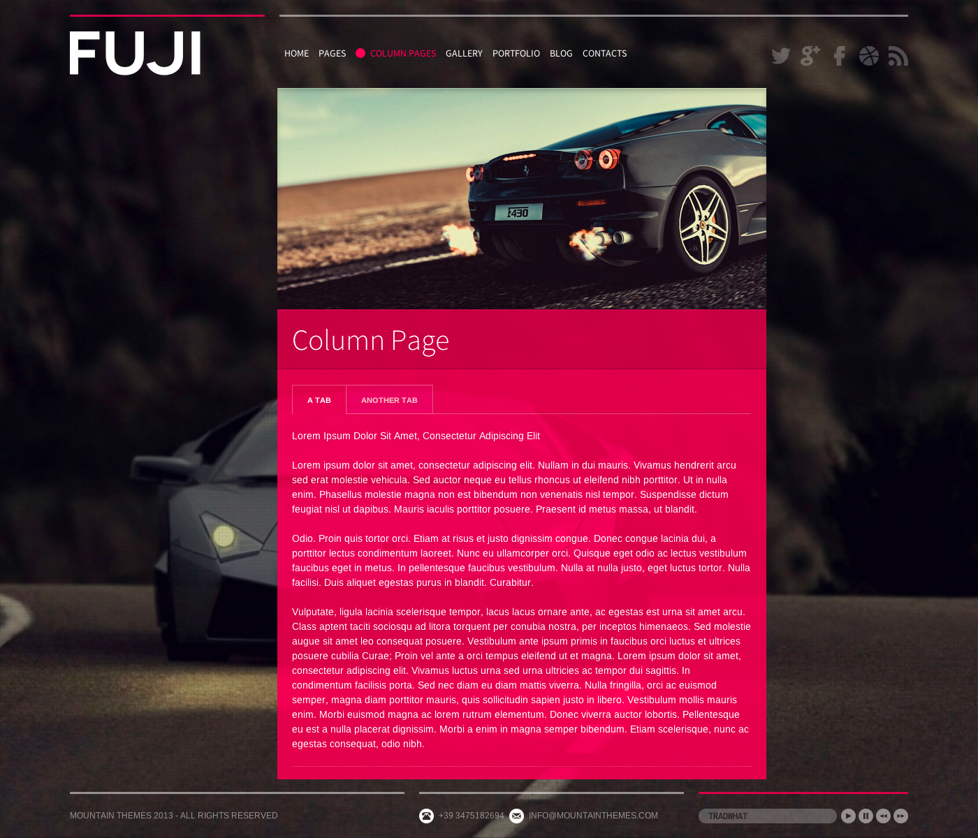 Fuji - Full Screen, Responsive & Retina Ready