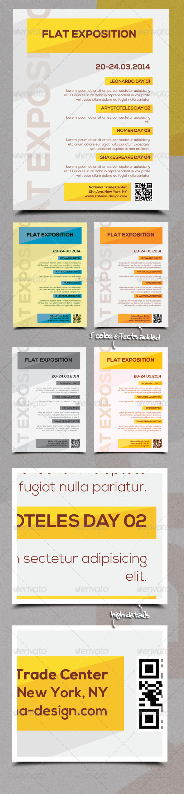 GraphicRiver Flat Exposition Poster Flyer 6027852