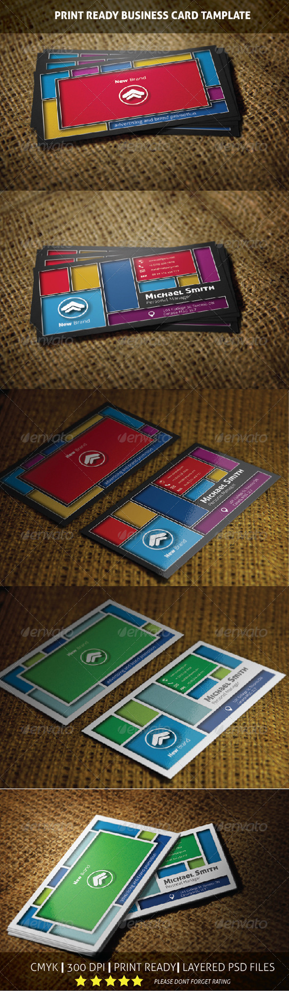 GraphicRiver New Brand Creative Business Card Template 6042284