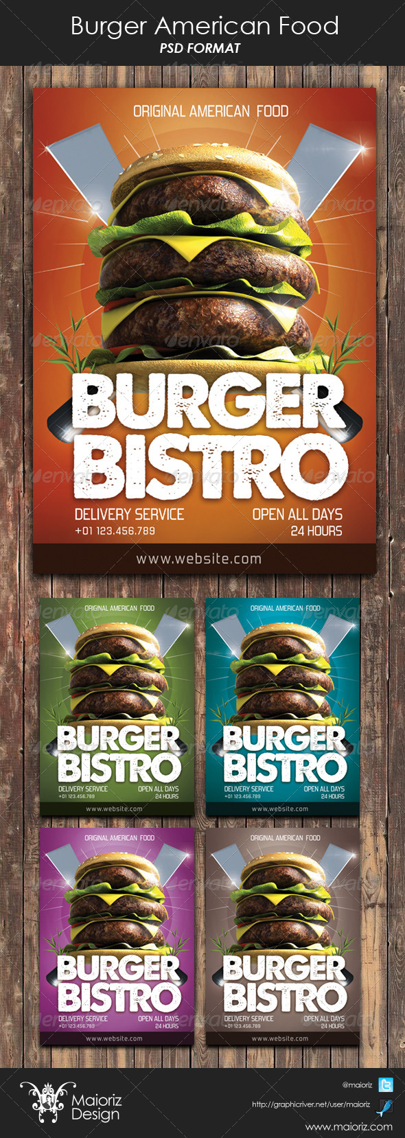 GraphicRiver Burger American Food Flyer 6043499