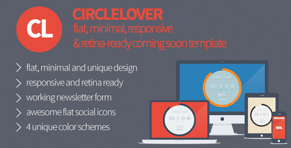 CircLover - Flat Responsive Coming Soon Template - Under Construction Specialty Pages
