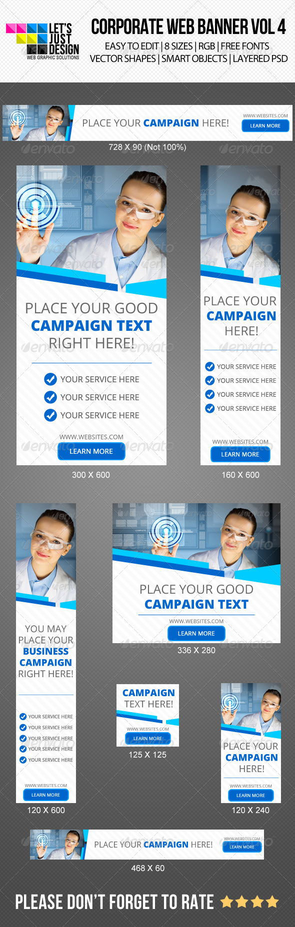 Corporate Web Banner Vol 4 - Banners & Ads Web Elements