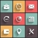 Application Web Icons in Flat Design - GraphicRiver Item for Sale
