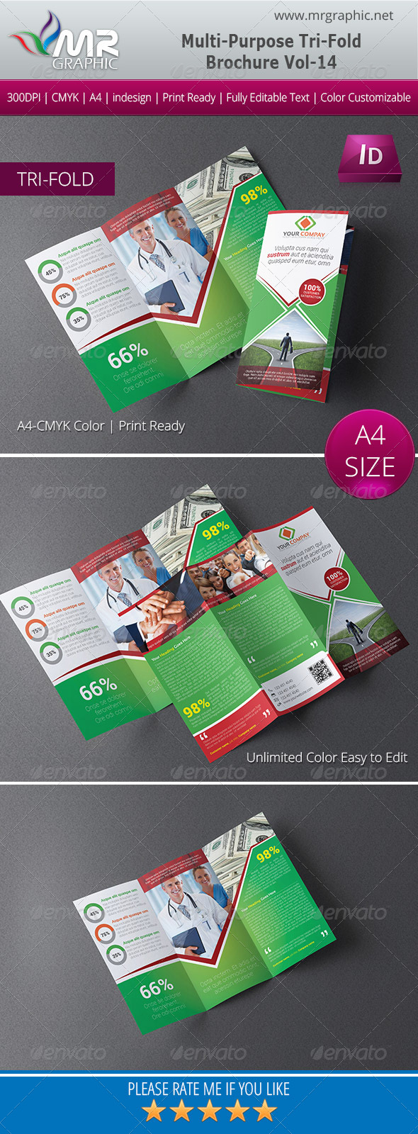 GraphicRiver Multipurpose Business Tri-Fold Brochure Vol-14 6045496
