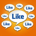 Like Chat Bubble Conversation on Orange - PhotoDune Item for Sale