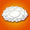 3d Chat Bubbles Storm Cloud on Orange Background - PhotoDune Item for Sale