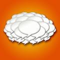 3d Chat Bubbles Storm Cloud on Orange Background - PhotoDune Item for Sale