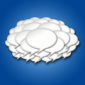 3d Chat Bubbles Storm Cloud on Blue Background - PhotoDune Item for Sale