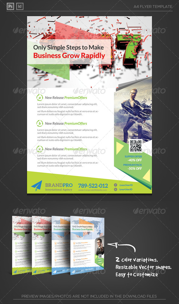 GraphicRiver Fresh Active Multipurpose Corporate Flyer Template 6045732